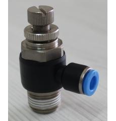 Пневмодроссель угловой SC8-02 (G1/4)